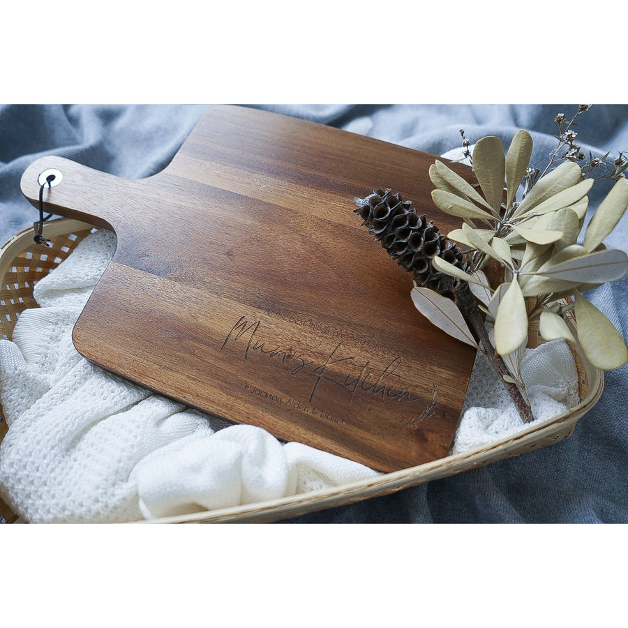 Personalised chopping boards