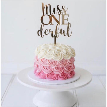 Custom Miss One Derful cake topper