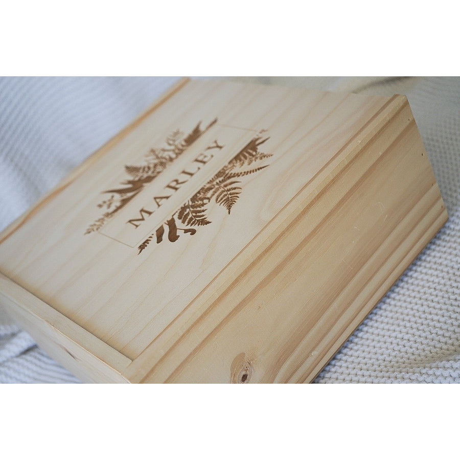 Square Keepsake Memory Box
