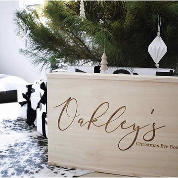 Traditional font Christmas Keepsake Box