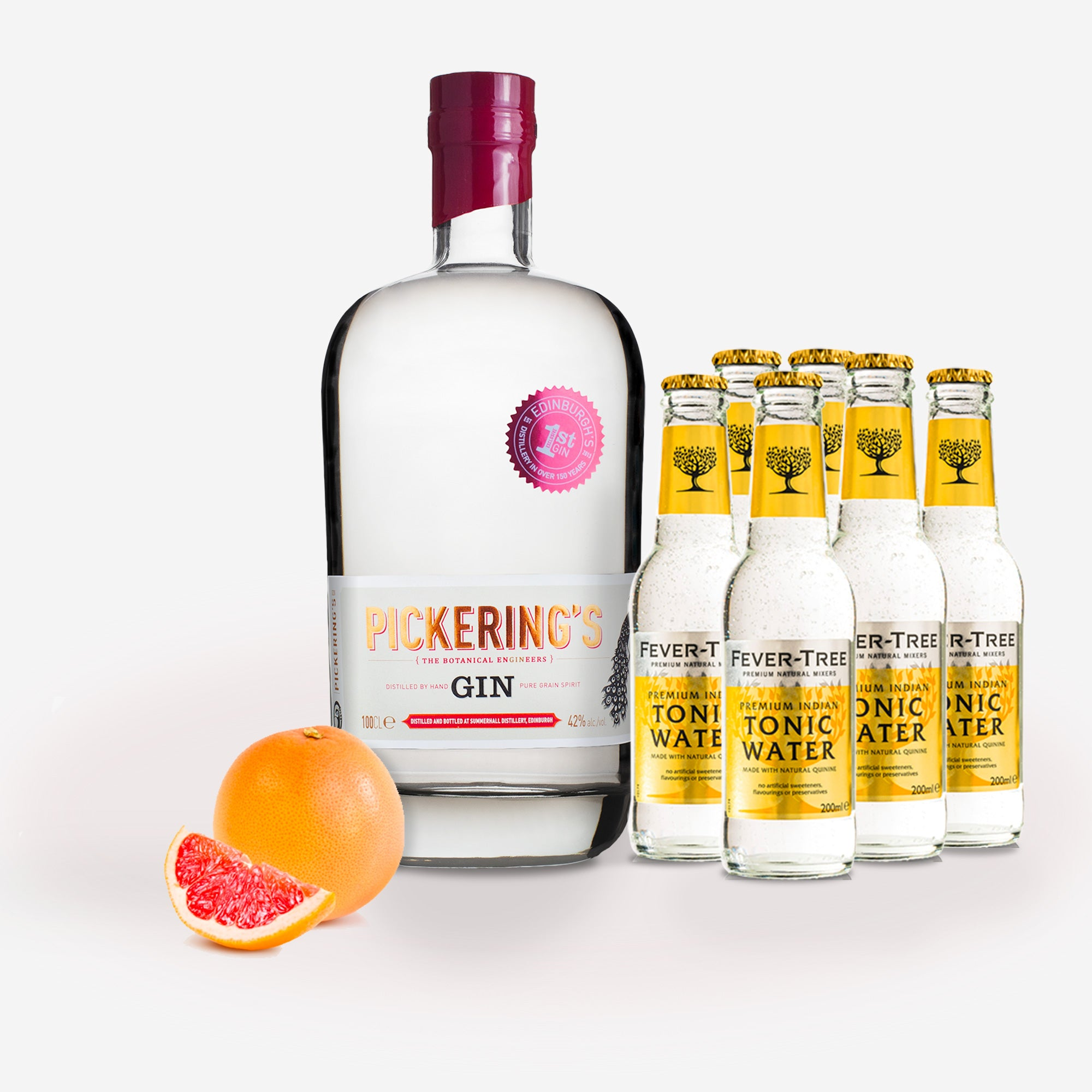 1 Litre Pickering's Gin & Tonic Survival Kit