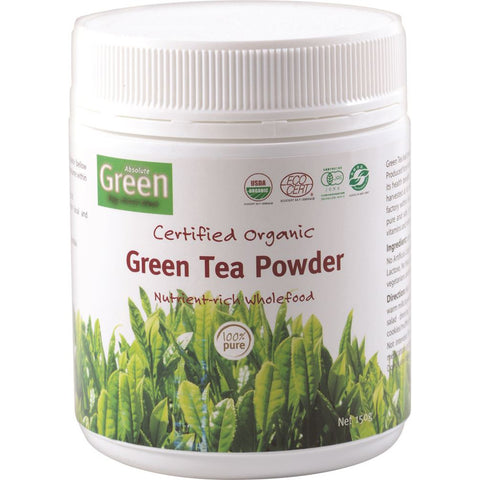Absolute Green Certified Organic Green Tea Powder 150g