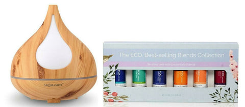 Aromamist Ultrasonic Diffuser & Eco Essential Oils Blends Pack (Beech)