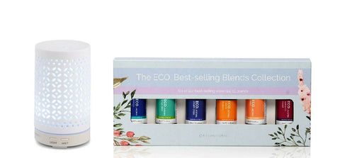 Aromamist Ultrasonic Diffuser & Eco Essential Oils Blends Pack (Mystique)