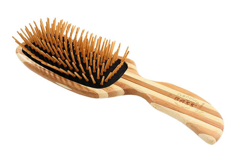 Bass Bamboo Eco Wood Hair Brush -Semi S Shaped Easy Grip