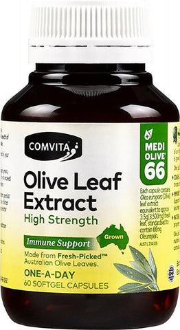COMVITA Olive leaf extract High Strength Immune Support - 60 Capsules