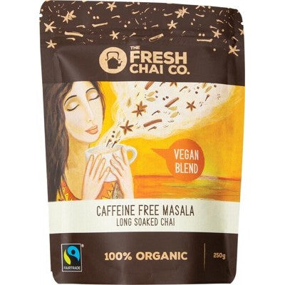 The First Chai Co. - Vegan Caffeine Free Masala Long Soaked Organic Chai 250g