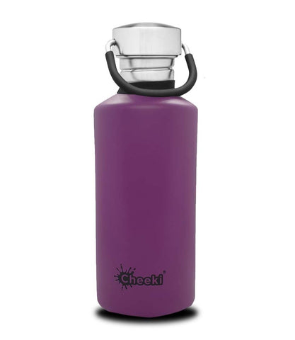 CHEEKI Reusable Stainless Steel Bottles - Purple - 500ml NEW!