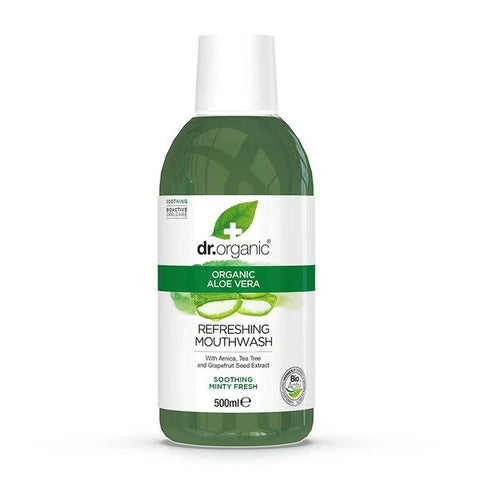 Dr Organic - All Natural Aloe Vera Mouthwash 500ml