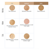 Dusty Girls Mineral Foundation SPF15 10g - Fair Minerals (add a healthy hue for light skin)
