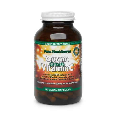 GREEN NUTRITIONALS Pure Plant Organic Green Vitamin C -120 Caps