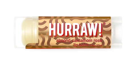 HURRAW Vegan Lip Balm - Vata (Almond, Cardamon, Rose) NEW!
