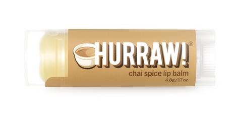 HURRAW Raw Vegan Lip Balm - Chai Spice 4.3g