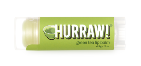 HURRAW Raw Vegan Lip Balm - Green Tea 4.3g