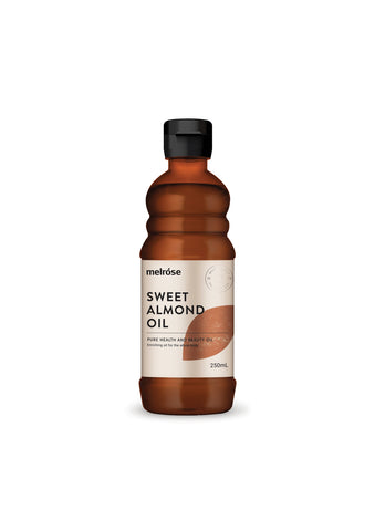 MELROSE Sweet Almond Oil 250ml (soothing, used as a fixed oil/ carrier oil)