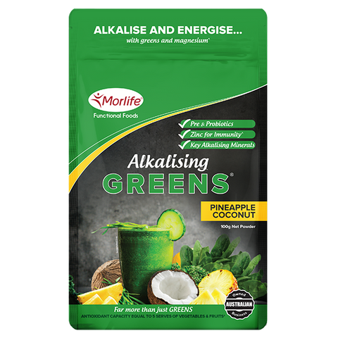 MORLIFE Alkalising Greens Pineapple Coconut 100g