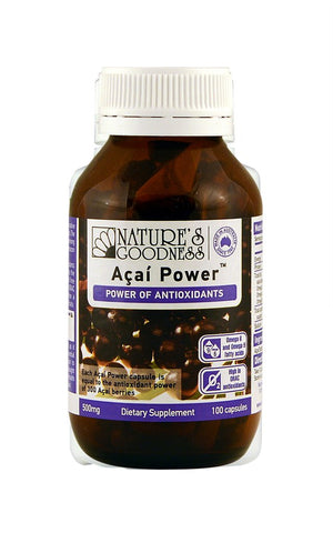 Nature's Goodness Power of Antioxidants - Acai Powder 100 Caps