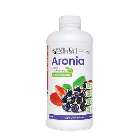 Nature's Goodness ARONIA (Black Chokeberry) Juice Concentrate 1L