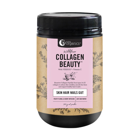 Nutra Organics Collagen Beauty + VitC (Skin Hair Nails Gut) 300g - Wildflower