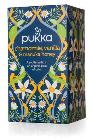 PUKKA Fair Trade Organic Tea - Chamomile Vanilla & Manuka Honey
