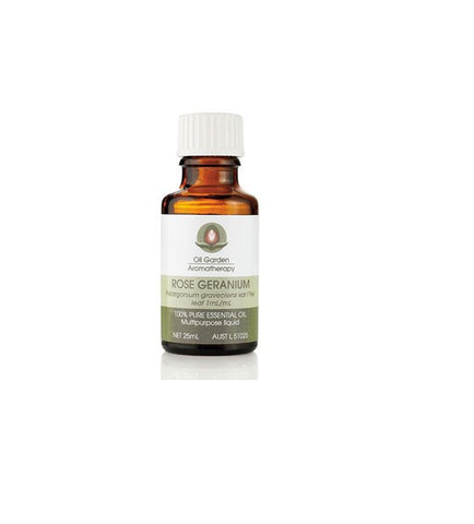 Oil Garden- ROSE GERANIUM ESSENTIAL OIL 25ml