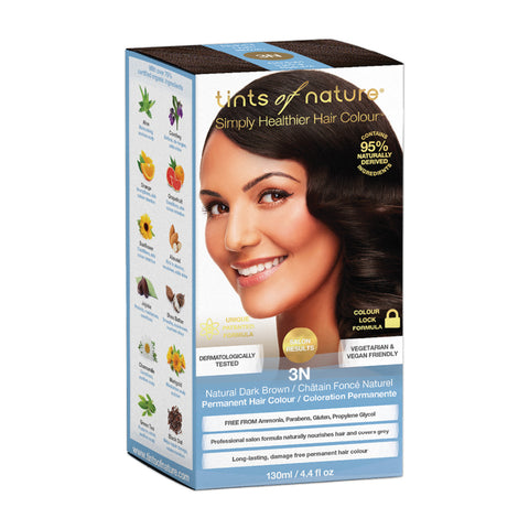 Tints of Nature Permanent Hair Colour - 3N Natural Dark Brown