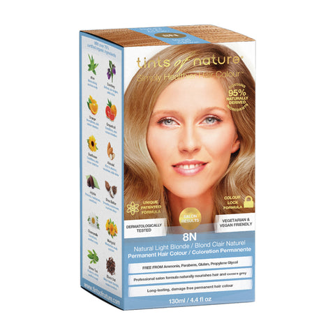 Tints of Nature Permanent Hair Colour - 8N Natural Light Blonde