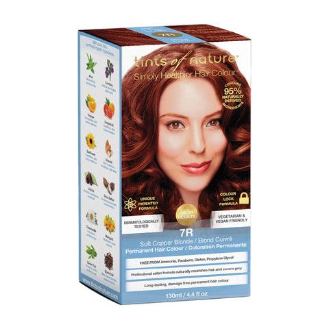 Tints of Nature Permanent Hair Colour - 7R Soft Copper Blonde