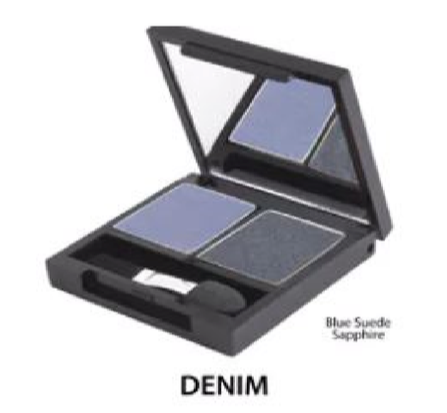 Zuii Certified Organic Duo Eyeshadow Palette- Denim