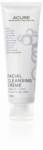 Acure Facial Cleansing Creme Argan Oil & Mint 118ml