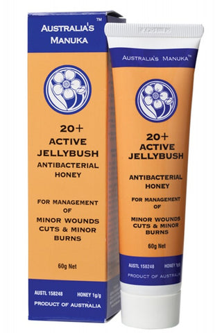 Australia's Manuka 20+ Active Jellyfish Antibacterial Honey for Wound Care 60g