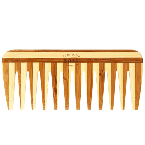 Bass Bamboo Eco Tortoise Comb - Wide Tooth