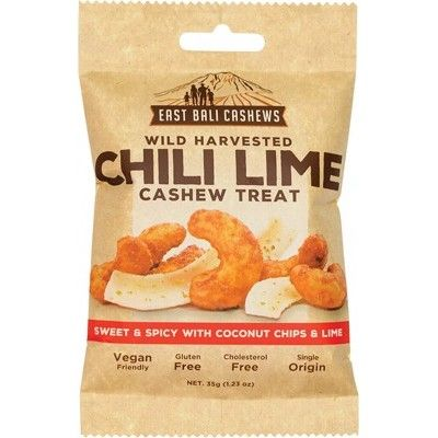 East Bali Cashew - Wild Harvested Chili Lime Cashew Snack 35g