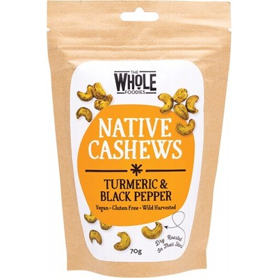 The Whole Foodies - Native Cashews - Turmeric & Black Pepper 70g