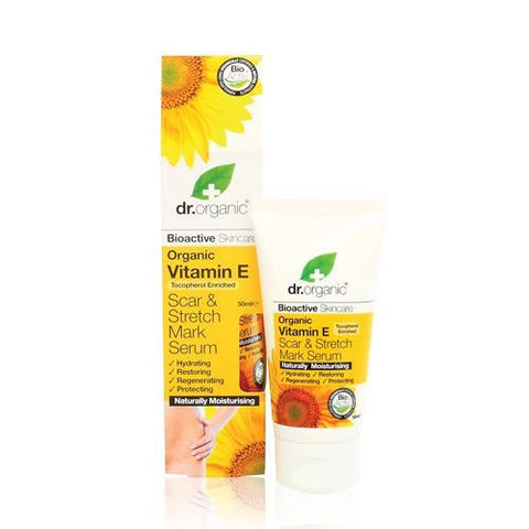 Dr Organic Bioactive Organic Vitamin E Scar & Stretch Mark Serum 50ml