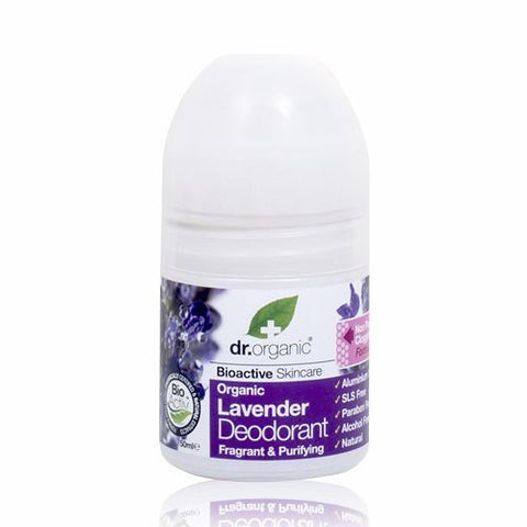 Dr Organic Roll On Deodorant 50ml - Lavender