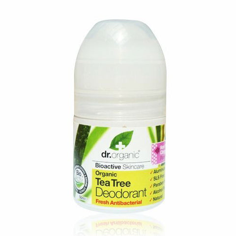 Dr Organic Tea Tree Roll On Deodorant 50ml