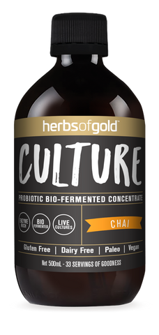 Herbs of Gold - Culture Probiotic Rich Drink Concentrate - Chai 500ml