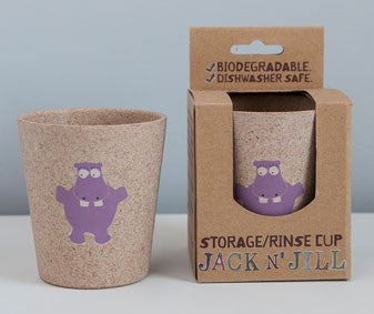 Jack N Jill Rinse Storage Biodegradable Cup Hippo