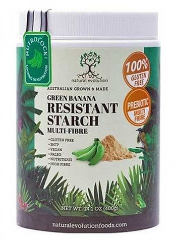 NATURAL EVOLUTION Green Banana Resistant Starch Powder (Prebiotic Multi-fibre) 400g