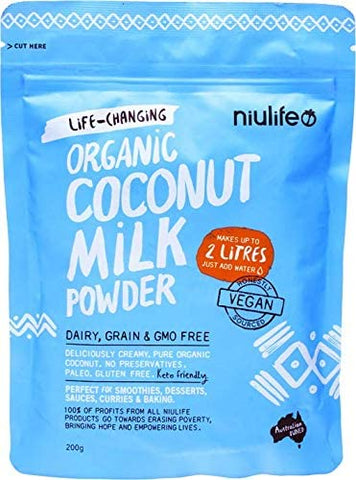 Niulife Organic Coconut Milk Powder 200g - Niulife (Makes 2 Litres)