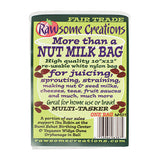 RAWSOM CREATIONS FairTrade Reusable Nut Milk Bag/ Juicing Bag/ Sprouting Bag