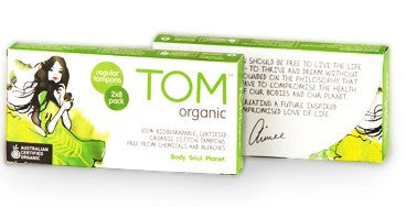 Tom Organic Tampons Regular 16's
