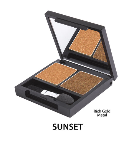 Zuii Certified Organic Duo Eyeshadow Palette-Sunset