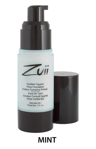 Zuii Certified Organic Colour Corrective Primer - Mint 30ml