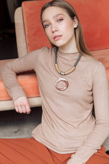 Kiri necklace / Marble rust