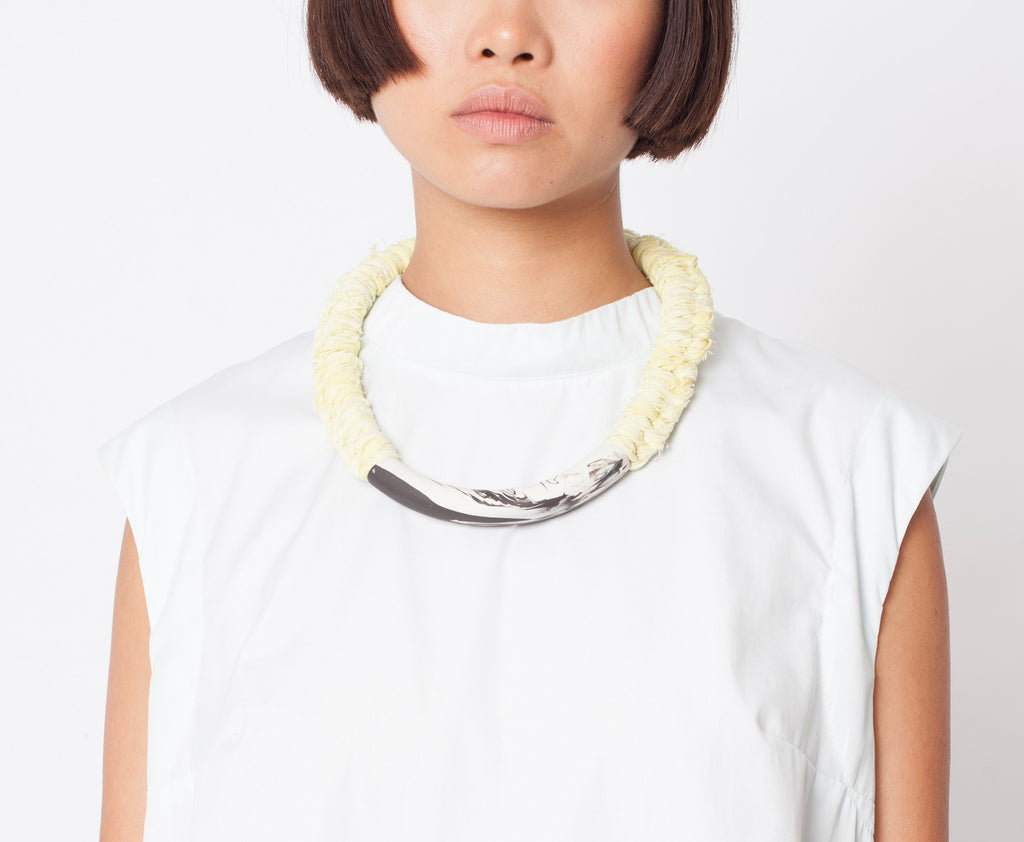 BAKALA / Yellow knot necklace