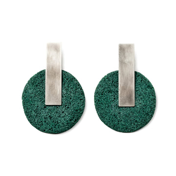 Dari Earring / Green Foam