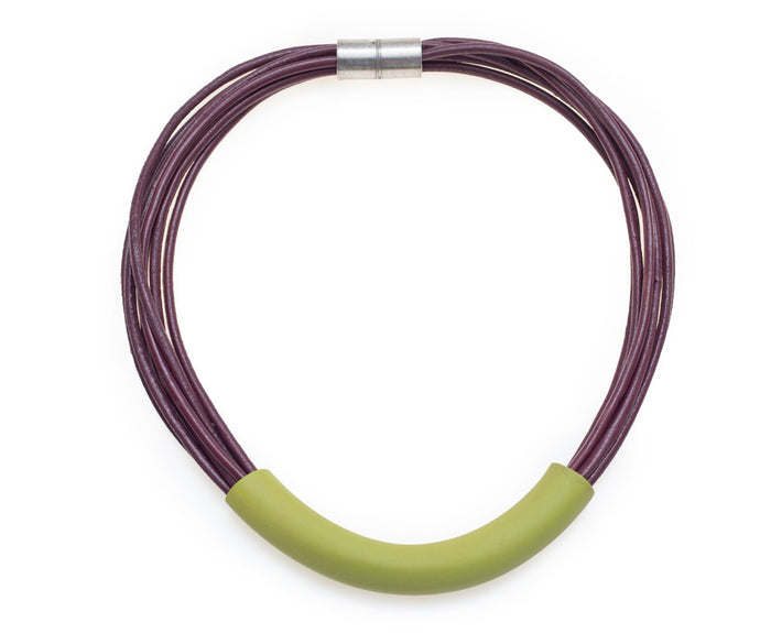 Folami / Greenery tube necklace
