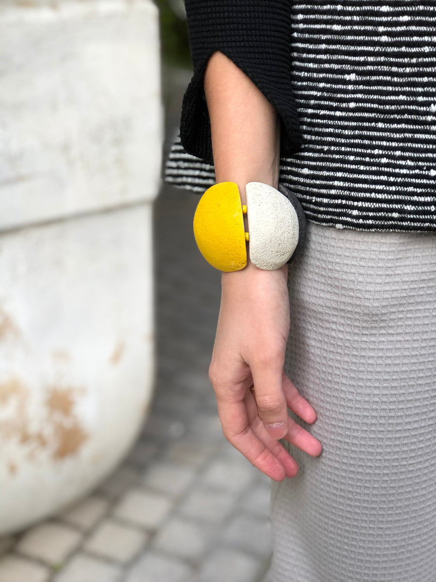 Pumy slip-on bracelet / Yellow mix